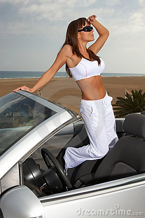 девушка автомобиля