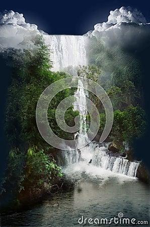 водопад одичалый