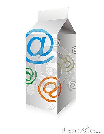 γάλα ηλεκτρονικού ταχυδρομείου κιβωτίων