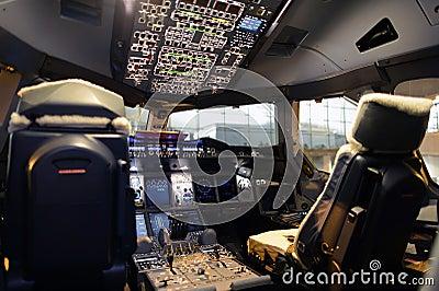 飞机座舱内部 库存照片