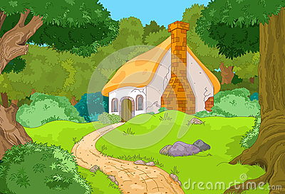 农村动画片森林客舱风景.图片