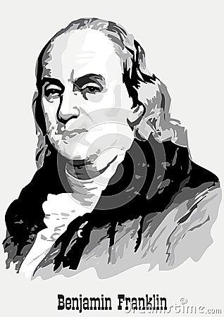 портрет Бенжамин Франклин