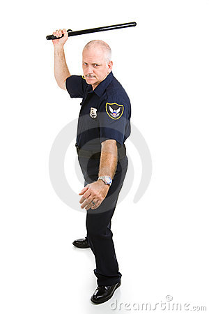 ручка полицейския ночи используя