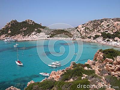 海滩意大利撒丁岛