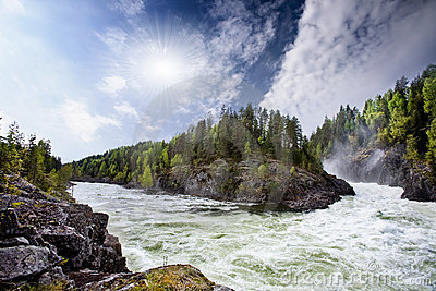 ποταμός ορμητικά σημείων ποταμού