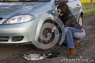 изменяя колесо