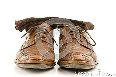 ботинки людей дела кожаные роскошные
