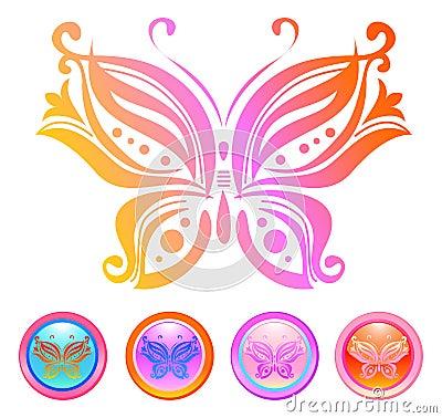 διάνυσμα σχεδίου πεταλούδων