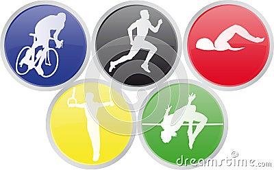 αθλητισμός Ολυμπιακών Αγώνων εικονιδίων