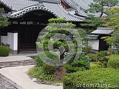 庭院日本人寺庙