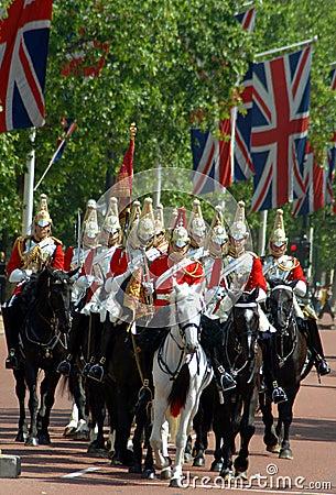 μεταβαλλόμενη φρουρά Λονδίνο Εκδοτική Στοκ Εικόνα