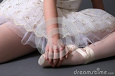芭蕾舞女演员颜色休息