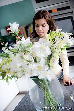 аранжировать цветок