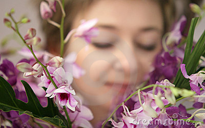 γυναίκα λουλουδιών