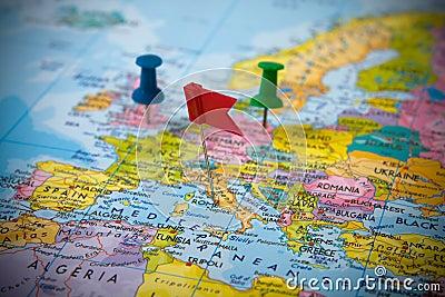 欧洲映射针
