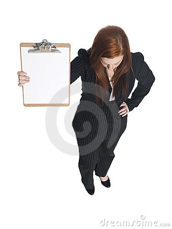 有剪贴板的女实业家