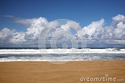 海滩夏威夷考艾岛没人那里