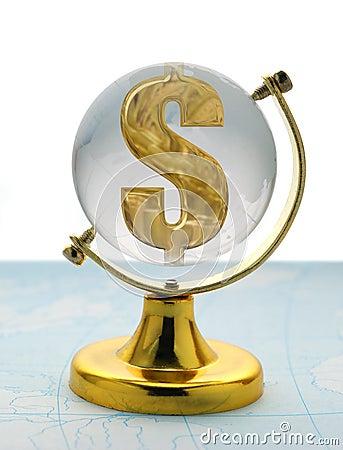 глобус доллара