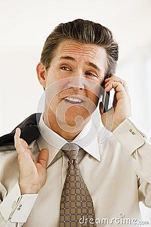 сотовый телефон бизнесмена