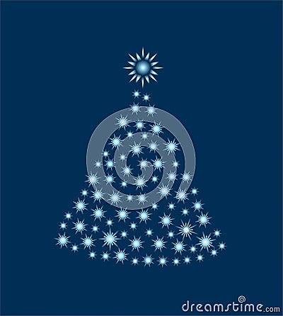 圣诞节闪动的结构树