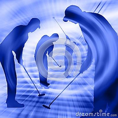 игроки гольфа