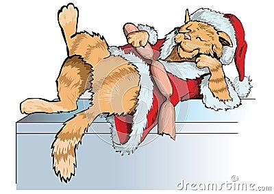 猫圣诞老人