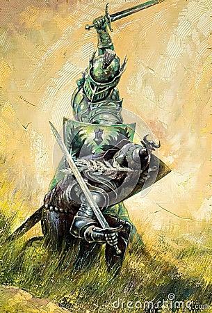 рыцари сражения