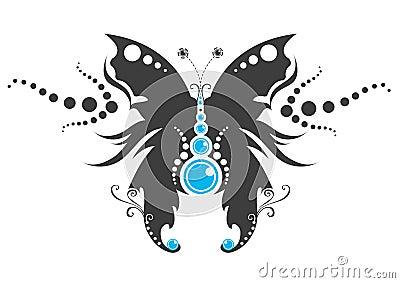 蝴蝶纹身花刺