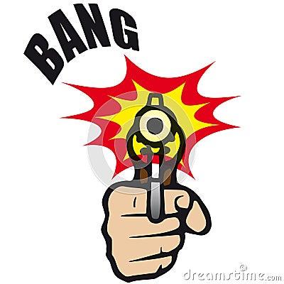 διάνυσμα πυροβόλων όπλων