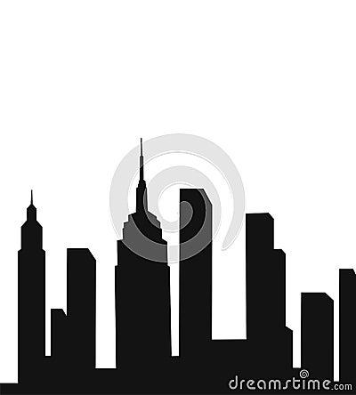 城市现代剪影