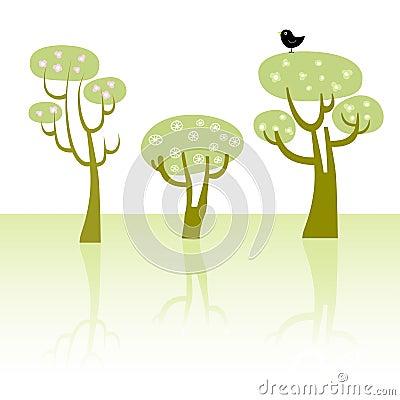 δέντρα άνοιξη