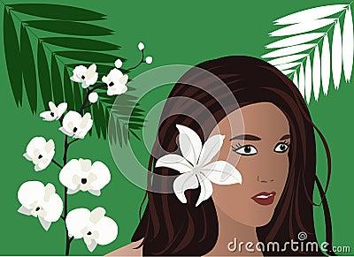 девушка тропическая