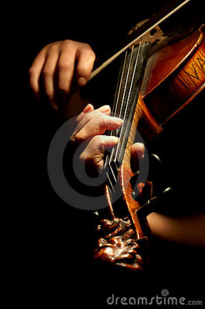 弹小提琴的音乐家