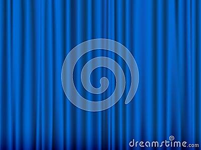 蓝色窗帘 图库摄影 - 图片