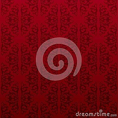 红色无缝的藤墙纸