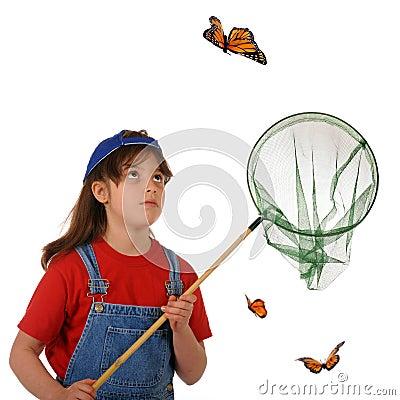 улавливать бабочек