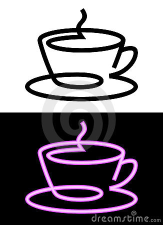 икона чашки контура