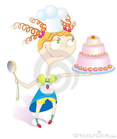 девушка торта