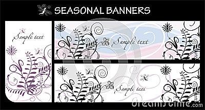 знамена сезонные