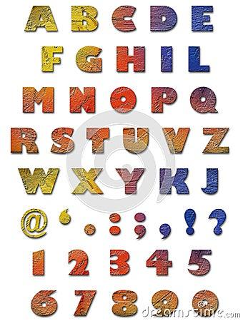 字母表纹理墙壁