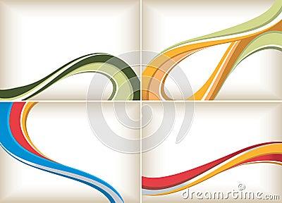 抽象背景曲线集