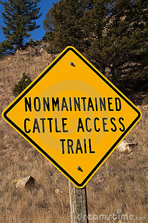 Nonmaintained Cattle Access Trail