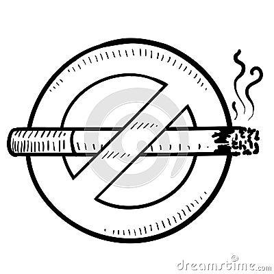 Nonsmoking sign sketch