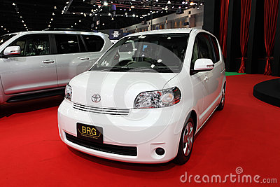 NONTHABURI - NOVEMBER 28: Toyota Porte car on display at The 30t Editorial Image