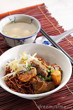 Noodle curry mee