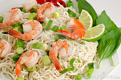 Noodle with shrimp