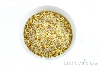 Bowl of Curly Noodles