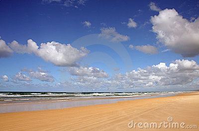 Noosa North Shore Beach and Clouds