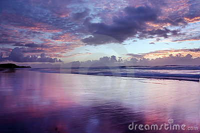 Noosa wschód słońca na plaży