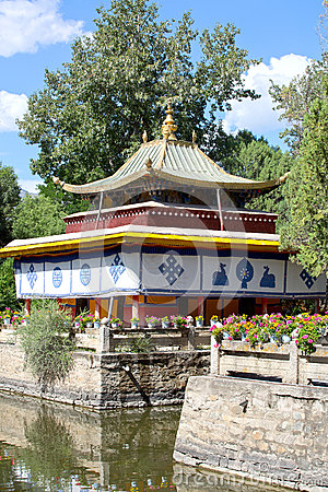 The Norbulingka Park in  Lhasa